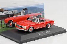 1963 Mercedes-Benz 230 Sl Roadster Rouge 1:43 Ixo Altaya Collection