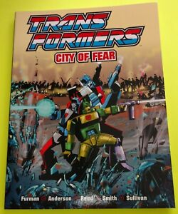 TRANSFOMERS : CITY OF FEAR SC BOOK, COLOR, COLLECTS RARE BRITISH STORIES ,SCARCE