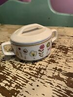 Temper-Ware Sugar Bowl With Lid By Lenox Sprite Pattern USA