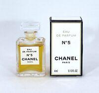 CHANEL No 5 EAU DE PARFUM 4 ml. 0.13 fl.oz. MINI PERFUME NEW IN BOX REAL PHOTO