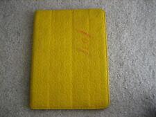 Michael Kors Yellow Neoprene Ipad 2 Case Portfolio Cover Folder 2nd Signature