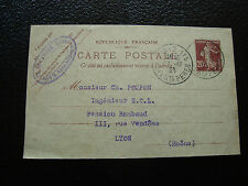 FRANCE - carte entier 1921 (date 016) (cy35) french