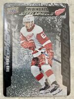 2019-20 CREDENTIALS TARO HIROSE STEEL WHEELS ROOKIE RED WINGS #SW-16 METAL CARD
