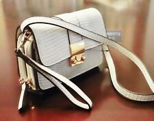 Sr Squared By Sondra Roberts White Crossbody Clutch Purse Wristlet New With Tag
