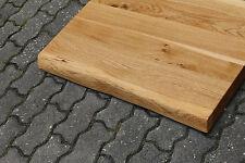 Tischplatte Platte Eiche Massiv Holz Tisch Brett Leimholz 5,5 cm Stark Baumkante