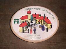 Uralte Spanschachtel Reifentiere Bauernhof Spielzeug Seiffen Erzgebirge 1925