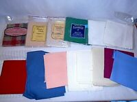 16 PC Aida Cloth 14 Count 16 20 Red Blue Pink Green Ivory White Plaid More