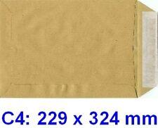 250 Pochettes ( enveloppes ) C4 229 x 324 mm kraft 90gr
