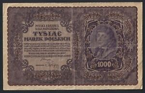 Polonia 1000 marek polskich 1919 BB/VF  B-07