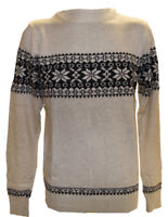 Pull Homme Laine Col Rond Motif Fantaisie Neige