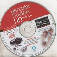 HERCULES - DUALPIX HD WEBCAM - INSTALLATION CD-ROM - SOFTWARE AND MANUAL VER.2.4