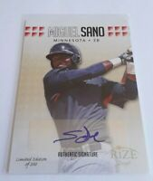 2013 Leaf Rize Draft Miguel Sano Gold Rookie RC AUTO Insert Card #50 S# /200