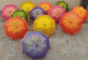 10 PC Wholesale Wedding Mehndi Event Decorative Party Parasol Indian Umbrella