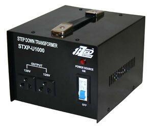 1000W 240V to 120V Step Down Transformer USA to Australian Voltage Converter
