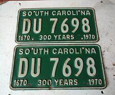 Pair 300 years South Carolina carolina license plates