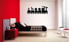CHOO CHOO TRAIN  BABY KIDS VINYL WALL  LETTERING DECAL HOME DECOR  ART CHILDREN