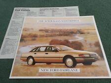 January 1988 FORD Australia FAIRLANE - LARGE 14 PAGE COLOUR BROCHURE + SPEC