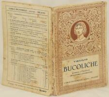 PUBLIO VIRGILIO MARONE BUCOLICHE NOTE ALESSANDRO ANNARATONE SIGNORELLI 1937