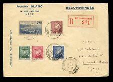 STAMP DEALER ADVERTISING ENVELOPE 1945 MONACO REGIST.JOSEPH BLANC NICE CONDAMINE