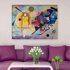 """WANDKINGS Leinwandbild Wassily Kandinsky - """"gelb rot blau"""" verschiedene Größen"""