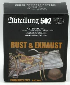 Abteilung 502 ABT403 Rust & Exhaust (Pigments Set) Weathering Effects Rusty