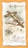 GRANDE   IMAGE PIEUSE  HOLY CARD MON CRUCIFIX PRIERE