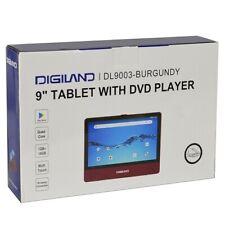 "Digiland DL9003MK 2n1 Android Tablet DVD Player Quad-Core 1.3GHz 1GB 16GB 9"" Bur"