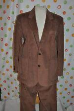 Vintage HAGGAR  MENS 42 BROWN corduroy SUIT blazer JACKET  36 x 28.5 PANT EUC