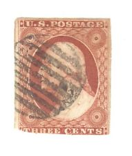 Scott 10a  Early US Stamp  3c Washington ..Grid Cancel...