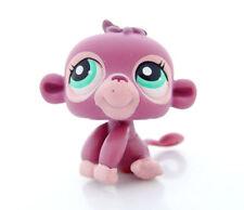 Littlest Pet Shop LPS #1493 Purple Pink safari Jungle Monkey With Teal Eyes