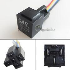 1pc 12V 40A 5-Pin SPDT Relay Socket Wire For Car DRL Lamp Fog Lights Retrofit