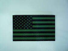 """FWD USA FLAG IR PATCH GREEN + MB 3 1/2""""X2"""" COLL#222 WITH VELCRO® BRAND FASTENER"""