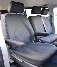 VW Transporter T6 Genuine Fit Waterproof Heavy Duty Tailored Seat Covers Black