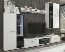 Moderne Wohnwände Palmas Wohnzimmer-Set Möbel Schrank Lowboard Vitrine Weiß M24