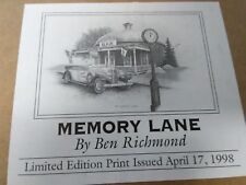 MEMORY LANE Signed Print  by Ben Richmond... 1998...UNOPENED