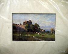 Vintage Print Sutton Palmer mounted to frame c1912 Craigmillar Castle Edinburgh