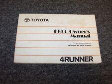 1994 Toyota 4Runner Owner Owner's Operator User Guide Manual SR5 2.4L 3.0L V6