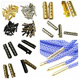 100pcs Metal Aglets DIY Shoelaces Repair Shoe Lace Tips Replacement End