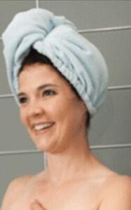 NORWEX Hair Wrap Light Blue Brand New -microfiber Towel For Hair