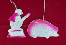 VINTAGE ALTE DRESDEN Karton CHRISTBAUMSCHMUCK UdSSR RUSSISCH AFFE AUGE № 2