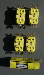 4 pc Hubell duplex receptacle HBL5662M1 straight horizontal blade electrical
