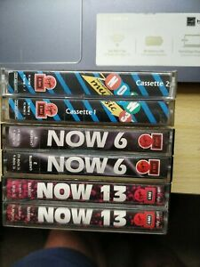Lot Of 3 NOW That's What I Call Music Cassettes vol 3, 6,&13