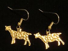 Billy Goat Earrings 24 Karat Gold Plate Farm Animals Barn Yard
