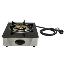 "12 x 14"" Single Propane Gas Stove 1 Burner Tempered Glass Cooktop Auto Ignition"