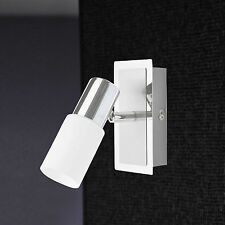 WOFI LED Applique murale bas 1-FLG nickel réglable verre blanc 5 WATT 400 LUMEN