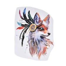 1pc colorful fox patches for clothes iron-on transfers easy print diy appliques-