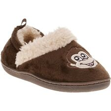 Walmart Brand Toddler Boys Monkey Slippers House Shoes Size Small 5-6 NEW