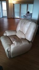 BEAUTIFUL TAN RECLINER - Soft leather with manual foot rest - GREAT CONDITION!!
