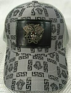 NWT Versace Baseball Hat Adjustable Cap Gray