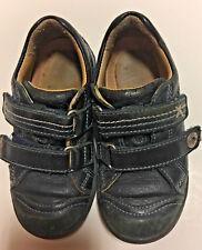 Black Leather Velcro Closure  SHOES (Little Boys) US Size 9/European Size 26